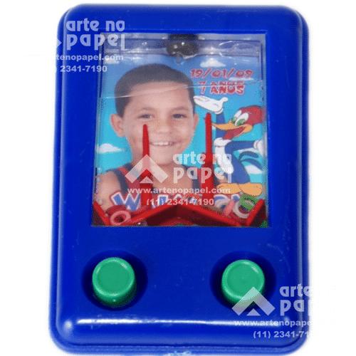 aquaplay azul arte no papel lembrancinhas personalizadas com foto