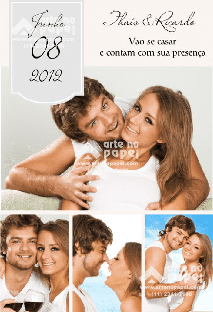 save the date grey arte no papel lembrancinhas personalizadas com foto