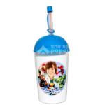 copo com canudo arte no papel lembrancinhas personalizadas com foto